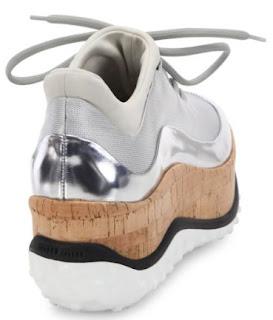 Miu Miu Metallic Cork Platform Sneaker
