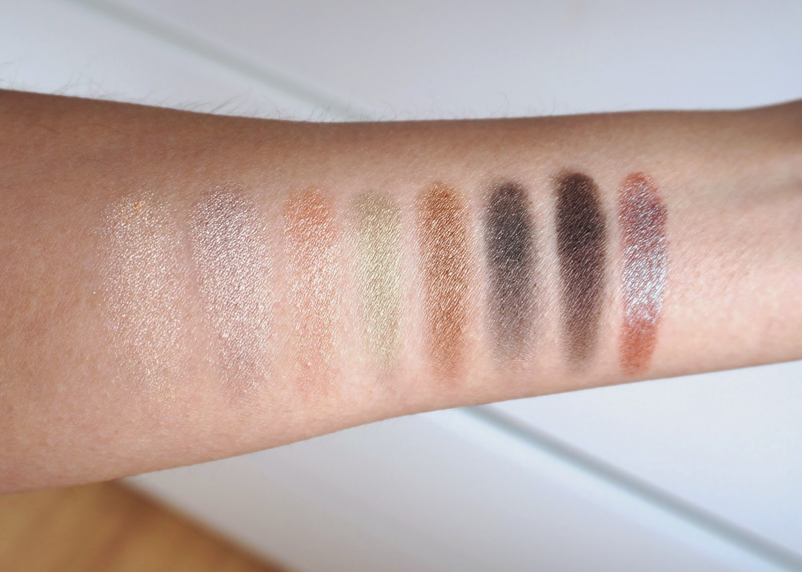 Wet n wild Comfort Zone eye shadow swatches