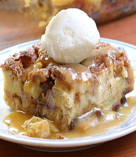 Apple Pie Bread Pudding #apple #cakes