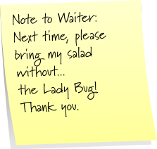 Waiter Sticky Note Saturday