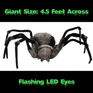 Scary GIANT SPIDER with LED EYES-Haunted House Prop Decoration