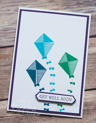 Swirly Bird Kites Get Well Soon Card made using supplies from Stampin' Up! UK which you can buy here