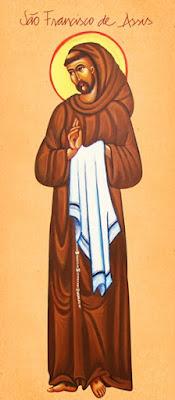 São Francisco de Assis - Ícones para grupo de oração, seminário de vida no Espírito Santo e eventos