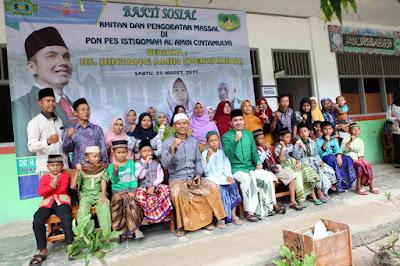 Masyarakat Cintamulya Antusias Ikuti Baksos di Ponpes Istiqomah Al-Amin
