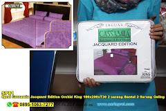 Sprei Cassamia Jacquard Edition Orchid King 180x200xT30 2 Sarung Bantal 2 Sarung Guling Ungu Ornamen Batik Polos Dewasa King Koil