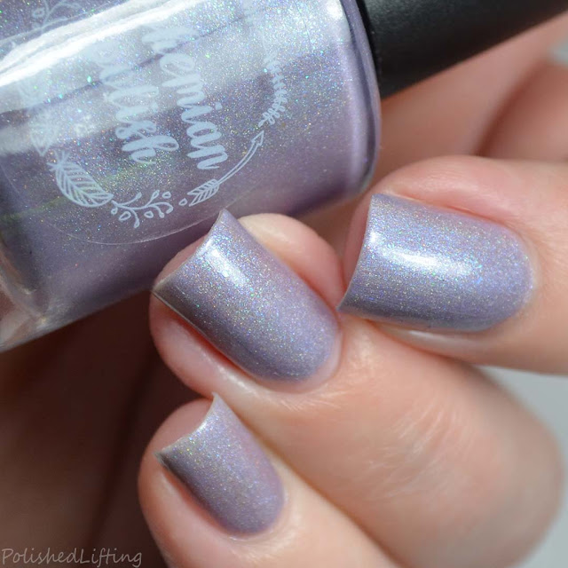 purple holo nail polish