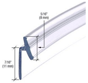 Slide In   These Slide Into Aluminum Channels Specific To Each  Manufacturer. Finding Replacement Plastic Seals For Framed Shower Doors Is  Difficult.
