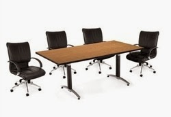 OFM English Oak Laminate Conference Table