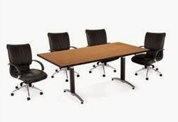 OFM English Oak Laminate Conference Table
