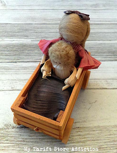 Nan's corn husk doll wagon