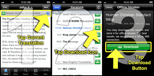How to View YouVersion Bible Offline in Android