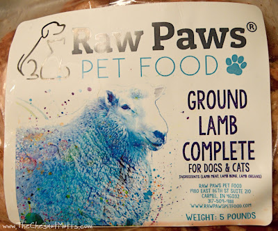 Raw diet lamb for dogs and cats