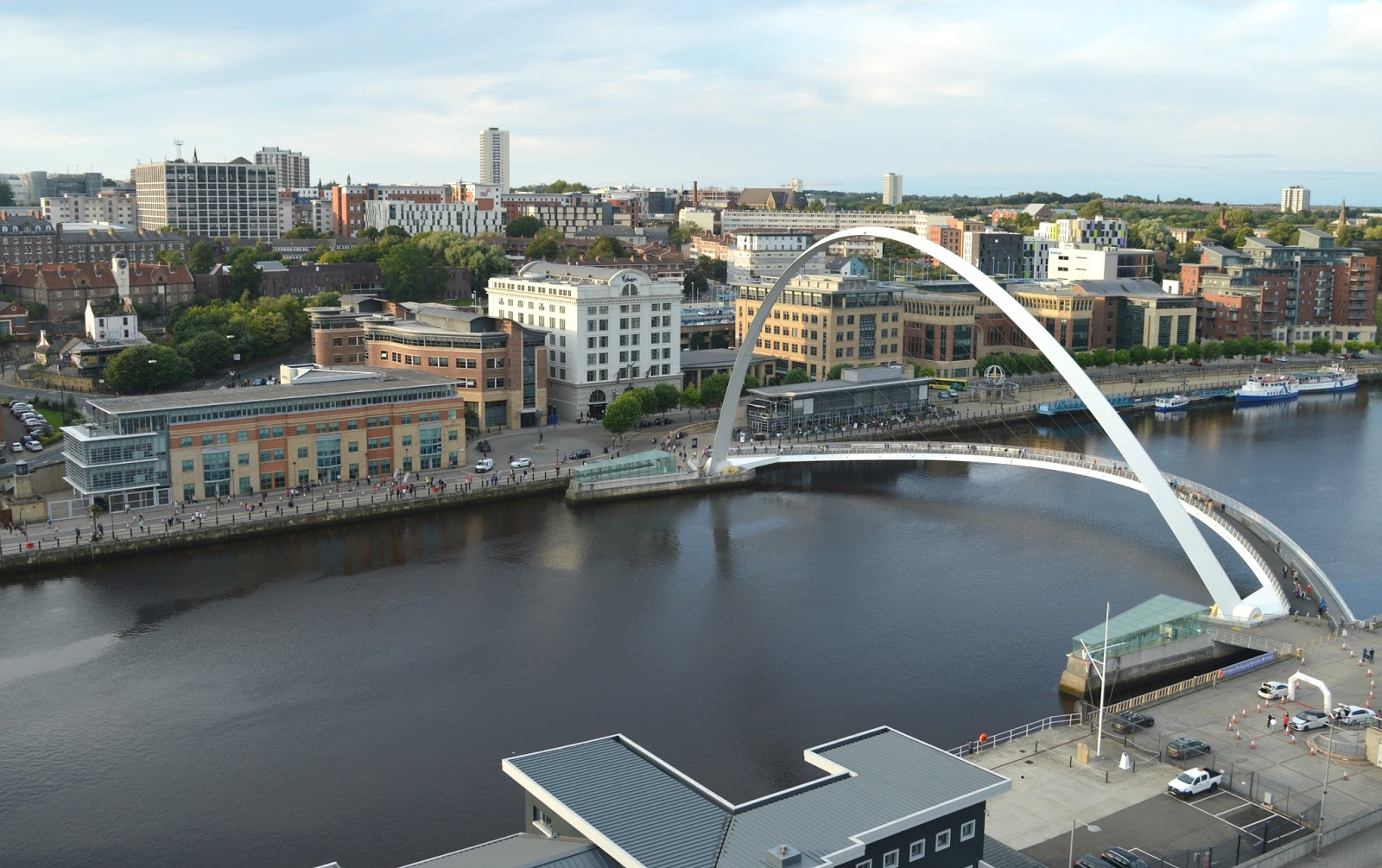 Newcastle in the Sky - Millennium Bridge