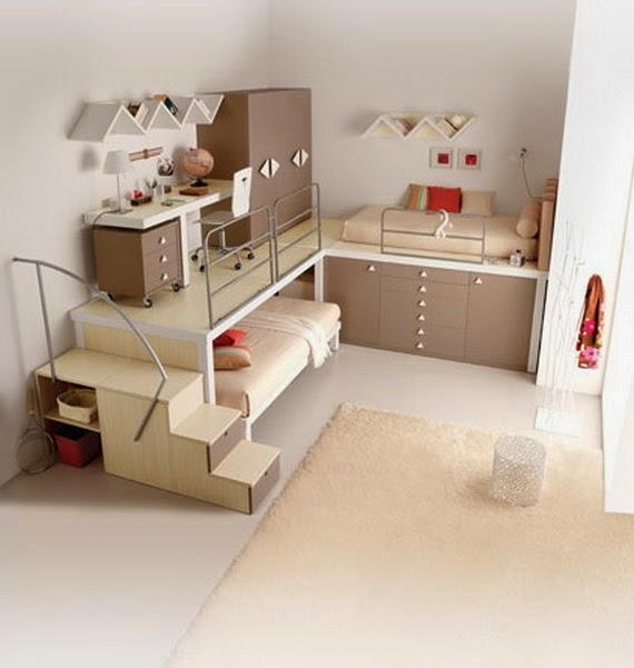cama juvenil espacio pequeño
