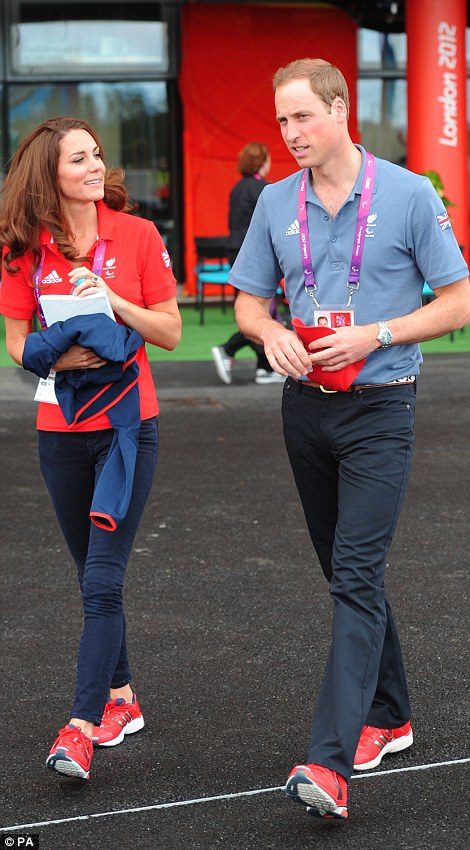 b840072c1 Kate Middleton wears Team GB Adidas Supernova Glide 4 Running Trainers. The  shoes feature a