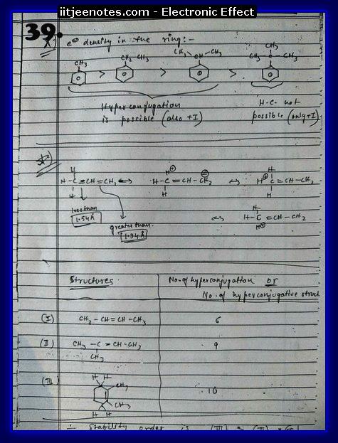 Electronic Effect Notes IITJEE9
