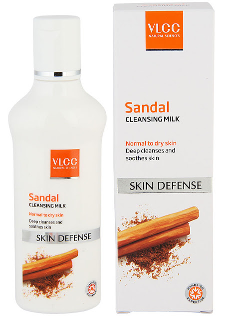 Top 5 Cleansing Milks Available in India, VLCC Sandal cleansing milk, price in India, best cleansers price in India, Indian beauty blogger, Chamber of Beauty