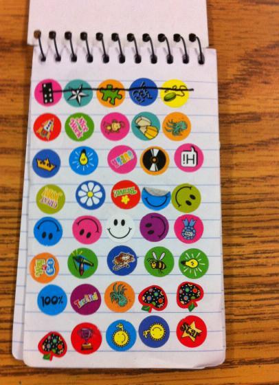 sticker classroom economy