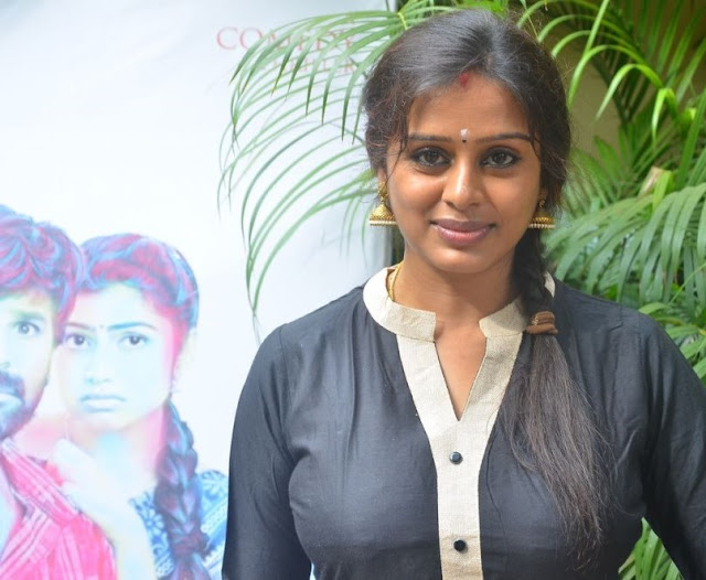 Latha Rao Latest Hot Glamourous Black Dress PhotoShoot Images At Sandi Kuthirai Movie Pressmeet