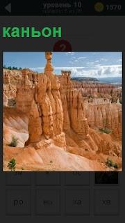 Долина с крутыми отвесными склонами каньон простирается очень далеко и глубоко вниз