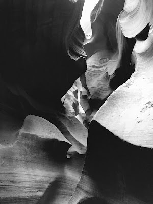 View inside of Lower Antelope Canyon.