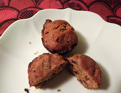 Two Muffins on Plate