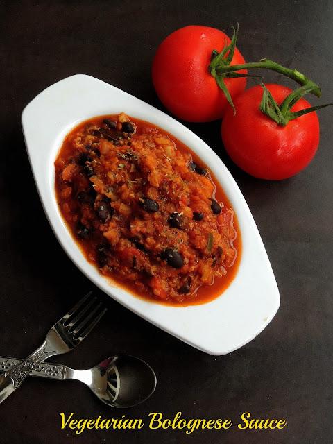 Vegetable & Beans Bolognese Sauce, vegetarian Bolognese Sauce