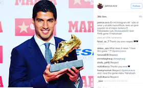 Man United player Patrice Evra makes peace with Luis Suarez
