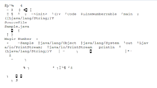 hasil kompilasi file java dengan nama file Sample.java menggunakan jvm