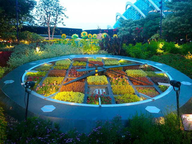 Floral Clock, Gardens by the Bay, Singapore