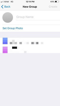Telegram group details iPhone