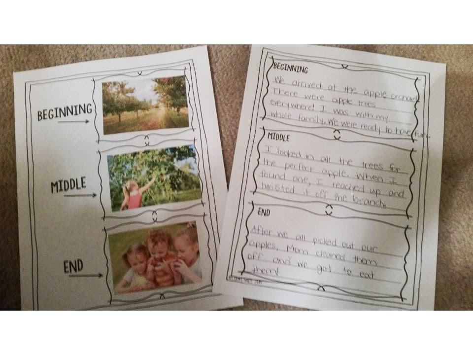 Fall Writing Activities- fall activities to make writing interactive- students cut and paste their own order of stories for creative writing ideas