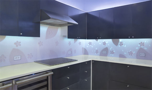 Cupboards Kitchen And Bath Corian Illumination Series