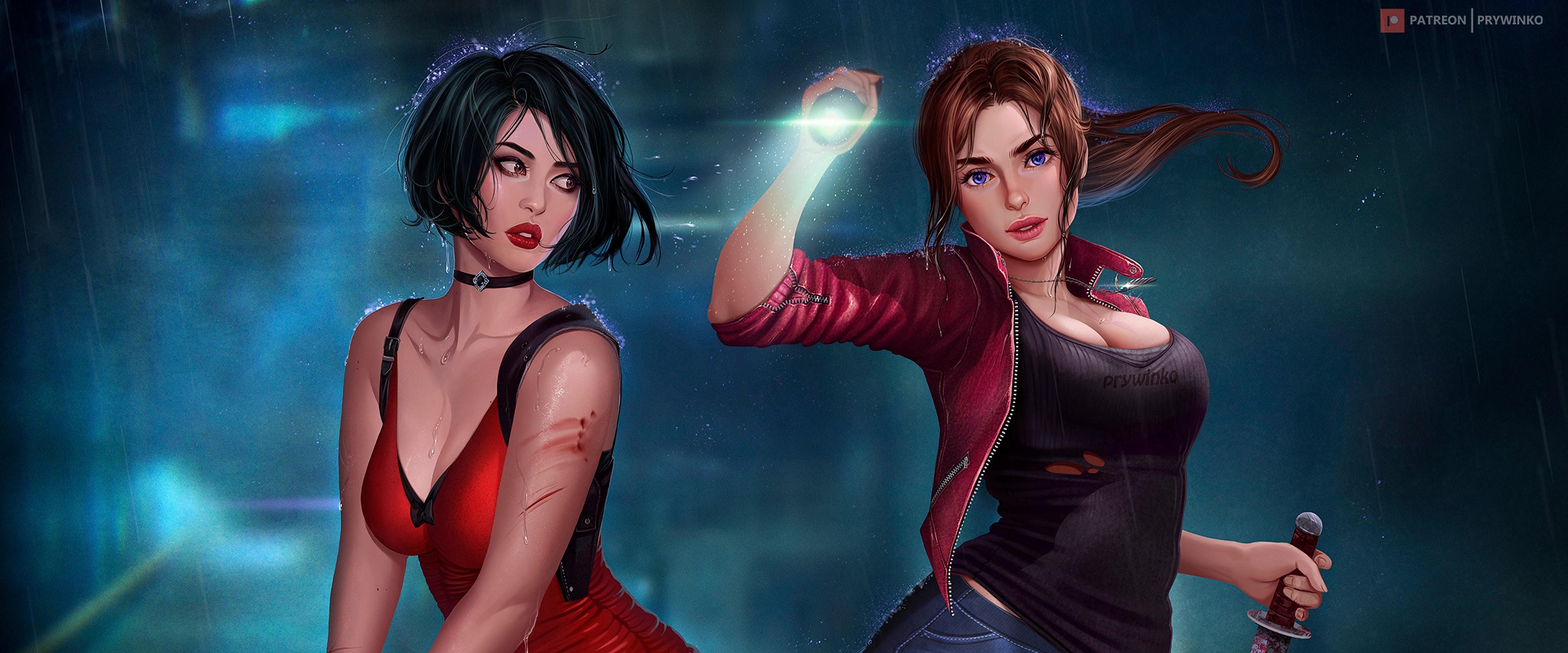 Ada Wong Claire Redfield Resident Evil 2 Girls 4K Wallpaper #19
