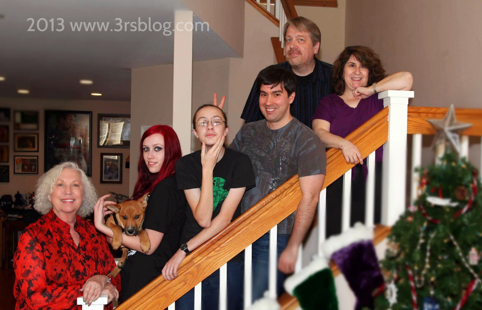 Christmas 2013: the less-goofy version of our family portrait