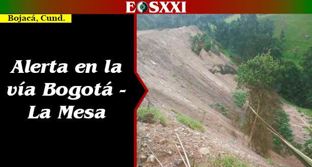 Obras de un particular originan contaminación y riesgo en la vía Bogotá - La Mesa