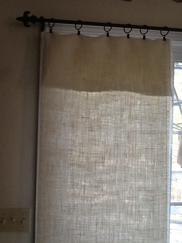 No Sew Burlap Curtains Our Crafty Mom