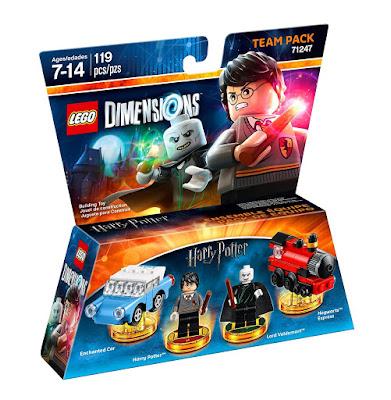 TOYS : JUGUETES - LEGO Dimensions  71247 Harry Potter : Team Pack  Potter & Voldemort  Figuras - Muñecos - Videojuegos | 2016  Piezas: 119 | Edad: 7-14 años  Comprar en Amazon España & Buy Amazon USA
