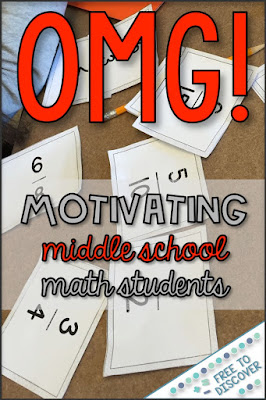 OMG is a math game that is super motivating for middle school math students.
