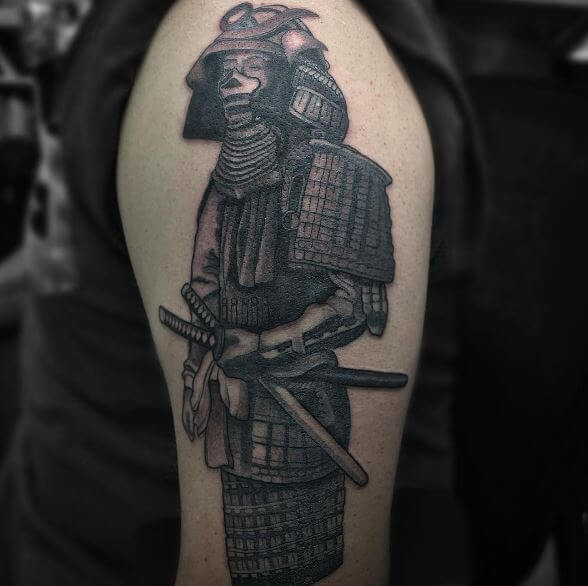 70ede0202 You can also go for just samurai armor tattoo design. Do not forget to add  the chained chest-case and a katana.
