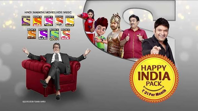 sony happy india pack