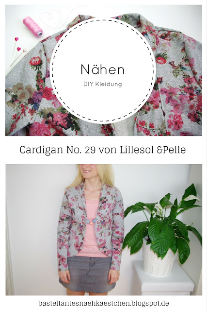 Cardigan Lillesol Woman No 29 Schnittmuster von Lillesol & Pelle Aus French Terry mit Blumen selbst genäht