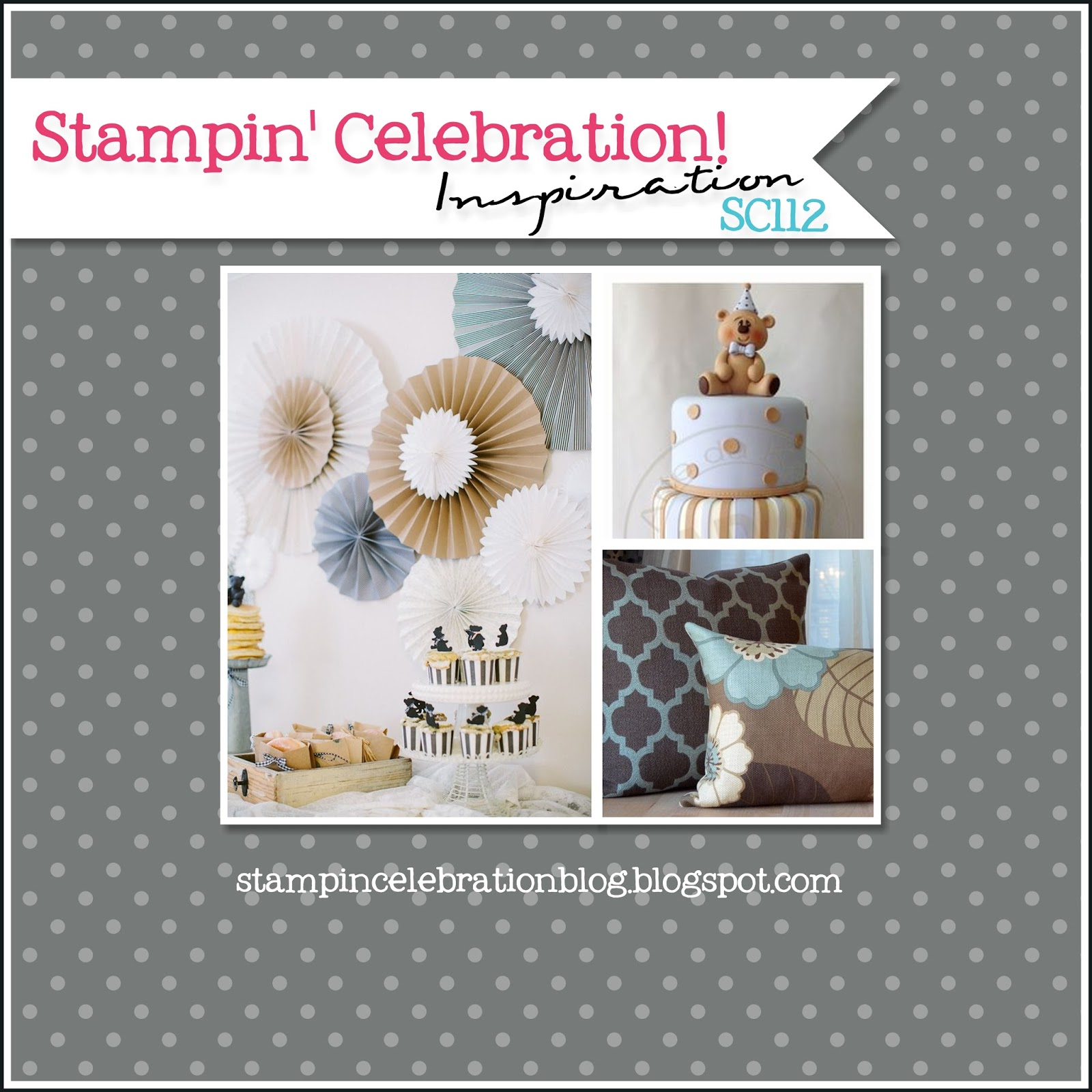 Project Inspired No 7 Linky Party Features Beautiful: Stampin' Celebration Challenge: SC112