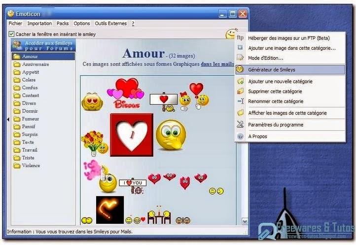 Emoticon un logiciel gratuit pour ins rer facilement des smileys dans vos messages freewares - Telecharger open office gratuit en francais 2014 ...