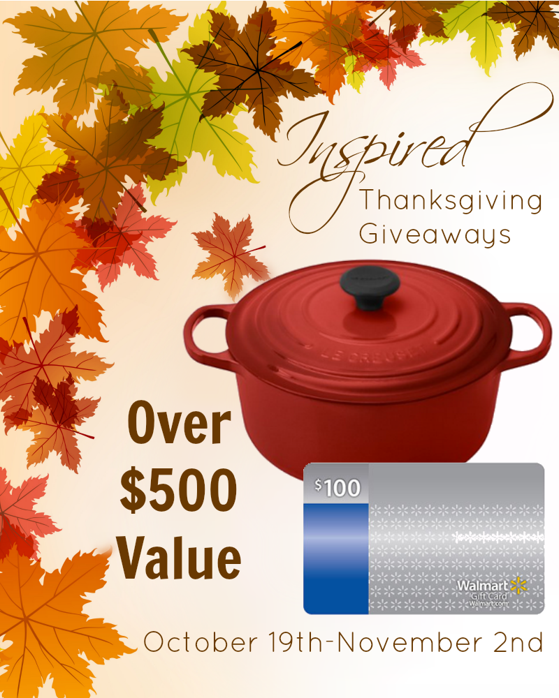 Thanksgiving Le Creuset and Gift Card Giveaway (Over $500 Value)