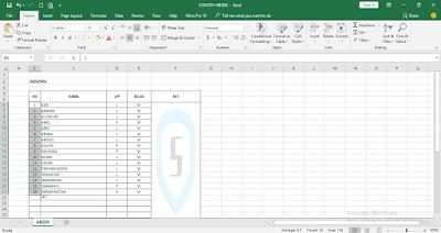 Sangat mudah membuat nomor urut otomatis di Excel 2016