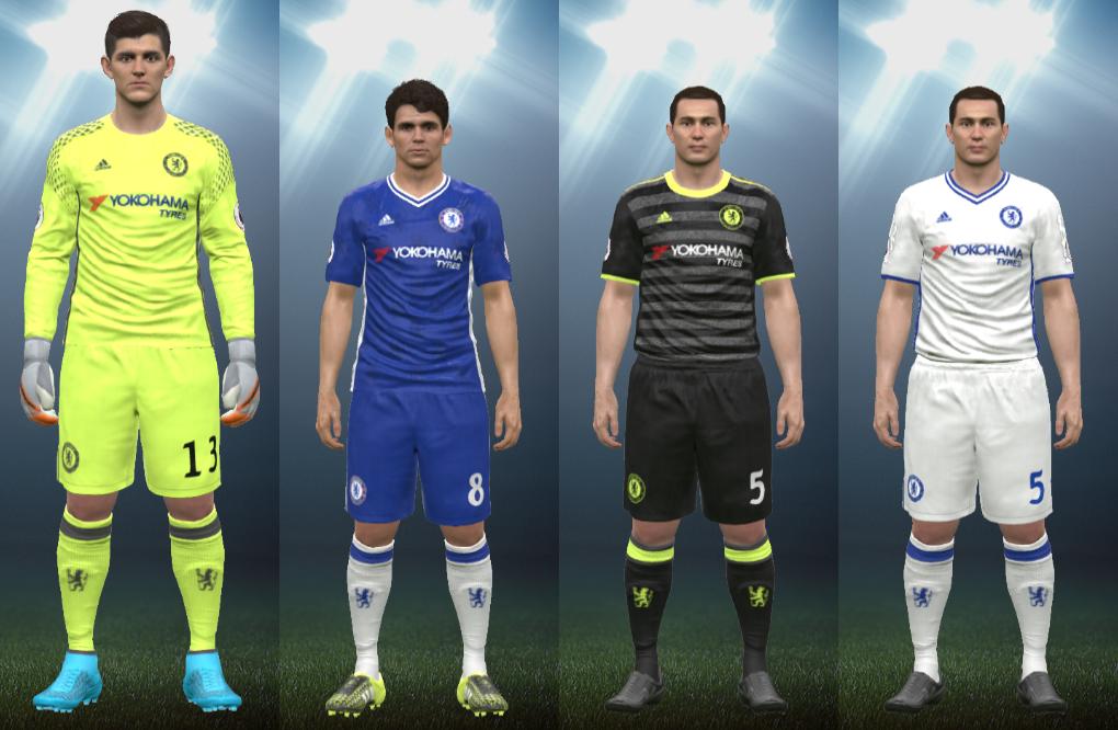 Wepes Sport  Uniforme Chelsea 2016 17 - Pes 2016 (PC PS3) c123693af3daf