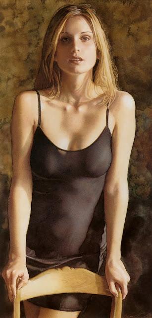 "American Watercolor painter-""Steve Hanks"" 1949"