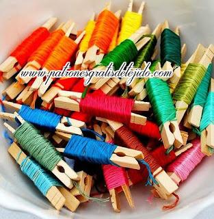 usar hilos reciclados para hacer flores con fichas de latas