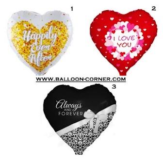 Balon Foil Hati Seri Pernikahan / Foil Love Wedding Series